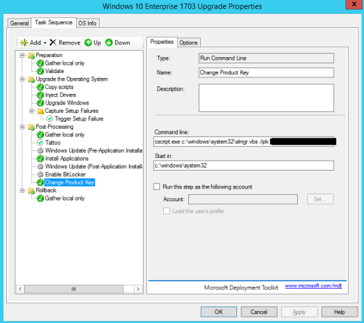 Deploying an In-Place Upgrade of Windows 10 Using MDT